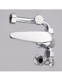 U Type Chrome Electric Water Heater Mixing Valve Single Handle Stainless Steel Bathroom Faucet Valve