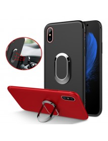Bakeey Protective Case for iPhone XS Max 360 Adjustable Metal Ring Grip Kickstand TPU Back Cover