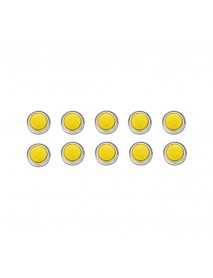 10Pcs 33MM Electroplated Yellow LED Push Button for Arcade Game Console Controller DIY