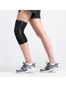 1Pcs Sports Three-dimensional Knitted Nylon Breathable Sweat-absorbent Silicone Non-slip Knee Pad