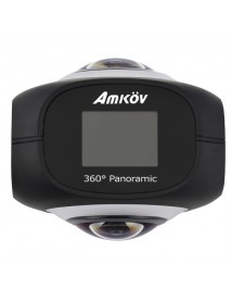 Amkov AMK360S Dual Lens 360 Panoramic Camera Wifi 220 Degree Fisheye Sport Driving Actioncamera