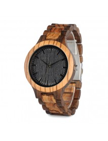BOBO BIRD WD30 Wooden Watch Black Dial Display Unisex Quartz Wrist Watch