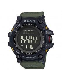 READ R90002 Digital Watch Multifunction Luminous Display Fashion Stopwatch Double Time Alarm Watch