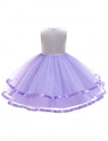 Children Girls Formal Wedding Princess Dress