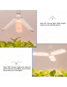 150W LED Growing Lamp 180LED Full Spetrum E26/E27 Grow Light Bulbs 3000K Color Temperature 2800lm IP54 Waterproof 90 Adjustable Angle Lighting for Greenhouse Indoor Flower Bonsai Plantings