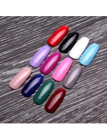 12ml Pure Nail Art  Soak-Off  UV Gel Polish Acrylic Black Red Varnish