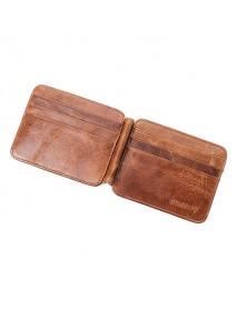 12 Card Slots Men Genuine Leather Minimalist Vintage Wallet Casual Business Card Holder