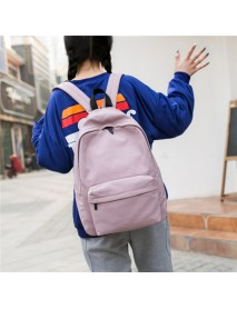 Backpack Female Tide College Wind Canvas Middle School Student Bag Men's Casual Waterproof Canvas Travel Backpack Bag