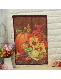 12''x18'' Autumn Pumpkin Garden Flag Elegance Fall House Halloween Banner Yard Decorations