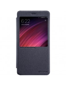 Nillkin PU leather Flip Smart window Protective Case For Xiaomi Redmi Note 4X/Note 4 Global Edition