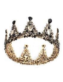 Elegant Bridal Crown Wedding Full Rhinestone Round Tiara Headpiece Hair Jewelry