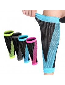 1 Pair Mens Football Basketball Breathable Calf Compression Sleeve Stockings for Running Cycling Travel Nurse