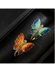 Sweet Enamel Butterfly Finger Ring Trendy Insect Diamond Personality Rings Gift for Women