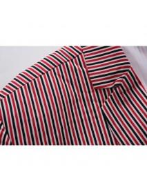 Mens Fashion Slim Stripe Suit Jacket Blazers