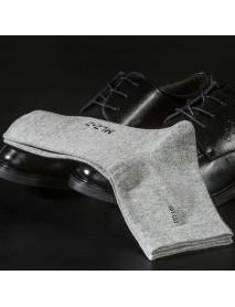 6 Pair Men Cotton Solid Business Long Tube Socks Casual Antibacterial Breathable Socks