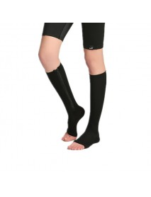 1 Pair Zip Sox Compression Socks Zipper Leg Support Knee Stockings Open Toe
