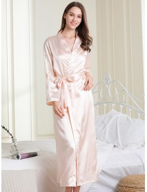 Hot Silky Spaghetti Straps Backless With Robe 2-Piece Nightgown