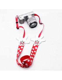 Multicolor Polka Dot Cartoon Neck SLR Camera Strap Personality Wistbands