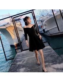 Season New Slim V-neck Strapless First Love Skirt Gentle Wind Long Dress Women's Clothing