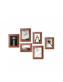 Geometry 1Piece Wall Photo Frame Family Wooden Picture Frame Desktop Picture Sets Square Picture Photo Holder From Xiaomi Youpin