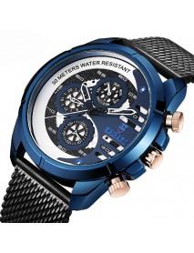 BAGARI 1802 Decorative Little Dials Quartz Watch Business Style Men Wrist Watch