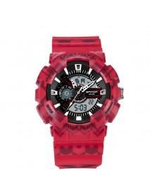 SANDA 999 Digital Watch Male Sport Waterproof Stopwatch Outdoor Dual Display Wrist Watch