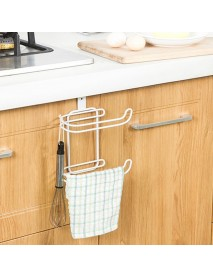 Bathroom Kitchen Hanging Organizer Iron 2 Layers Toilet Roll Paper Home Hooks Shelf Towel Holder