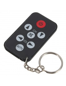10pcs Universal Infrared IR Mini TV Remote Control Keychain Key Ring