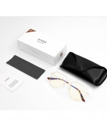 ANDZ Metal Geometric Frame Fashion Eye Care Glasses Anti-Blue Glasses 46% Light Blocking Rated Glasses from Xiaomi Youpin