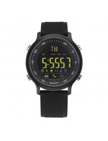 EX18 SMS Reminder Pedometer Chronograph Multifunction Luminous IP67 Fashion Sport Bluetooth Watch