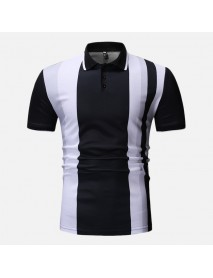 Men Colour Block Muscle Fit Golf Shirt