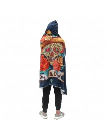 130x150cm Hooded Blanket Wearable Thickened Double Plush 3D Digital Printing Blankets