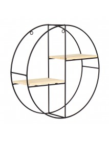 Nordic Geometric Wood Iron Wall Shelf Plant Display Rack Storage Cafe Home Decorations