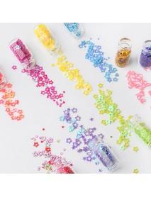 48 Colors Glass Bottle Manicure Jewelry Glitter Sequins Hexagonal Caviar Nail Decoration Set