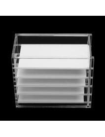 5 Layer Clear Eyelash Storage Acrylic Box Cosmetic Organizer Eyelashes Glue Pallet Holders