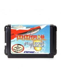 16 Bit Video Game Cartridges Black Card 1 Raiden Trad for Sega MD2 Game Console