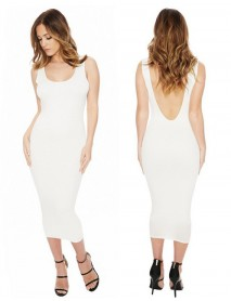 Best Selling European Station New Strap Dress Nightclub Open Back Skirt