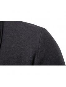 Irregular British Style Solid Color Suit V-Neck Trench Coat Blazers for Men