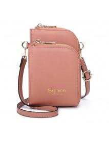 Brenice  Women Multi-Slot Comestic Crossbody Bag Mini Phone Bag