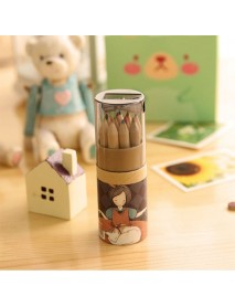 1 Set Lovely Kawaii Cartoon Little Girl 12 Colors Artist Professional Fine Drawing Painting Sketching Writing Pencil CQ02
