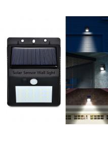 Outdoor Solar 20 LED Motion Sensor Light IP65 Waterproof Walkway Panel Wall Lamp Night Light