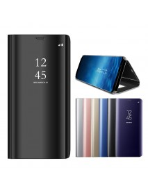 Bakeey Smart Sleep Mirror Window View Bracket Case For Samsung Galaxy A8 Plus 2018
