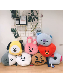 45x55cm Plush Pillow Doll Cushion Toy For KPOP BTS BT21 TATA SHOOKY SUGA COOKY