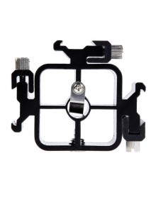 Triple Hot ShoE Mount Adapter Flashlight Stand Umbrella Holder Bracket for Canon Nikon Pentax