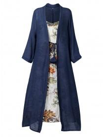 Bohemian Print Knot Two Pieces Summer Plus Size Dress