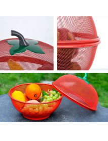 Apple Shape Mesh Fresh Fruits Storage Drain Basket Keep Flies Insects Out Storage Baskets Filter