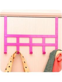 5 Hooks Door Cabinet Clothes Robe Hook Metal Storage Shelf Sundries Holder