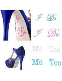 I DO ME TOO Wedding Shoe Stickers Bridal Rhinestones Shoes Sticker Wedding Decoration