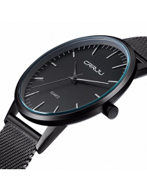 CRRJU 2117 Luxury Men Quartz Watch Fashion Ultra Thin Wristwatch