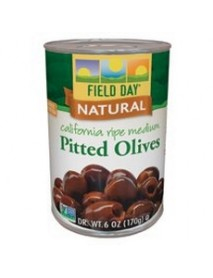 Field Day Olives Medium Pitted Canned Ripe  (12x6Oz)